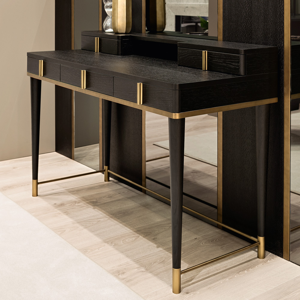 home desks, Black Oak Italian Designer Writing Desk