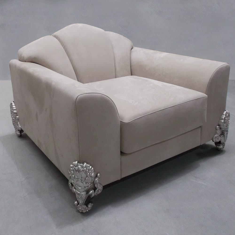 luxury interiors, Classic Luxury Nubuck Leather Designer Armchair