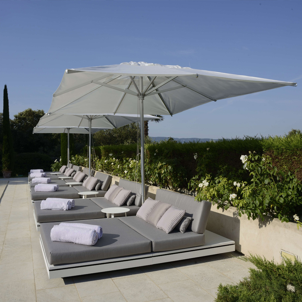 Contemporary Designer Outdoor Double Day Bed Style Lounger