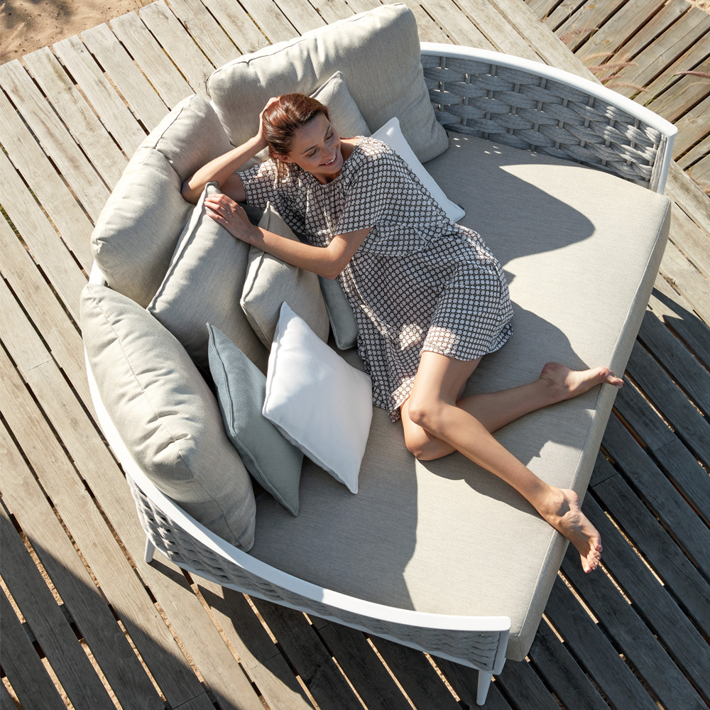 Designer Woven Rope Outdoor Contemporary Daybed