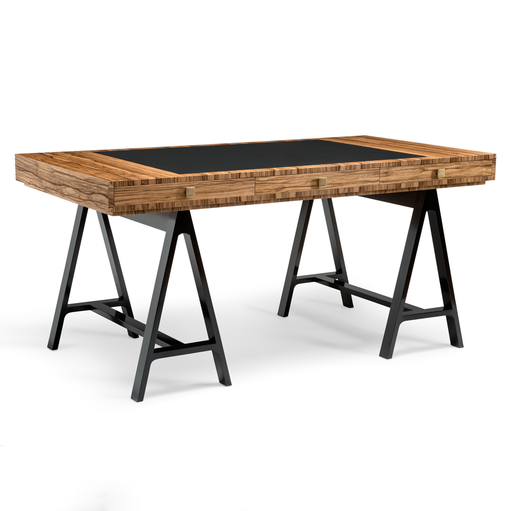 High End British Designer Contemporary Trestle Desk