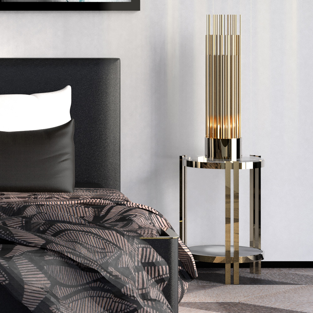 Accessories, Gold Plated Designer Modern Table Lamp
