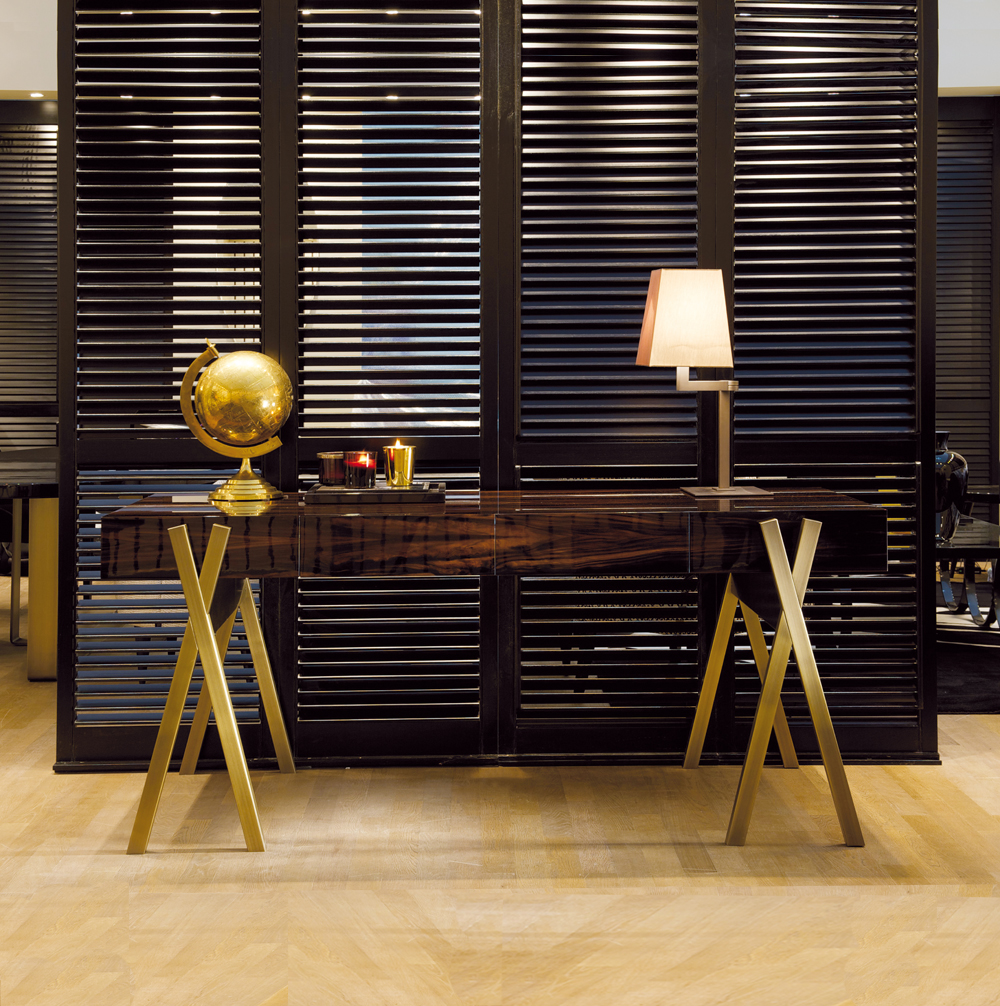 home desks, Luxury High End Italian Ebony Writing Desk