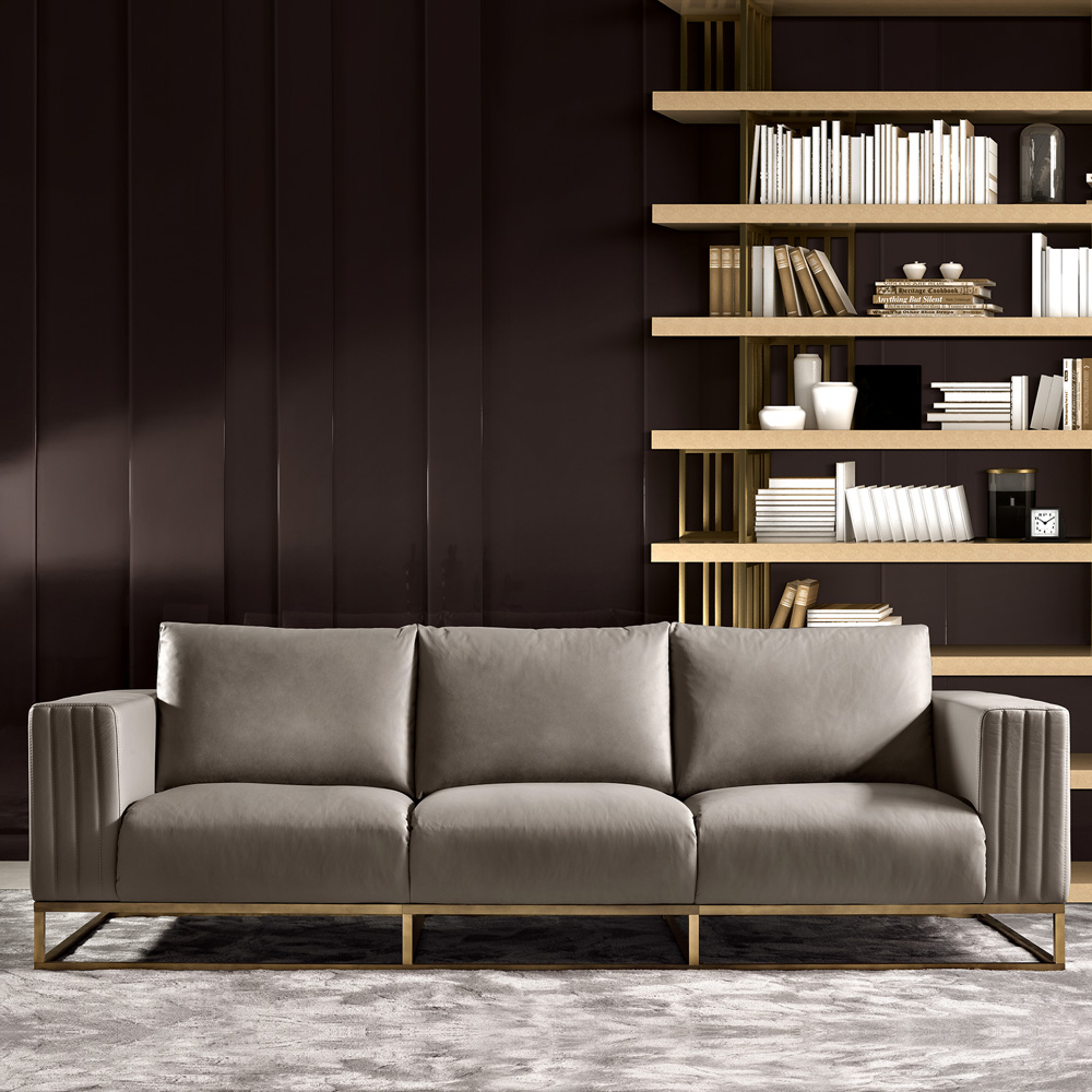 New Arrivals, High End Luxury Leather Contemporary Designer Sofa