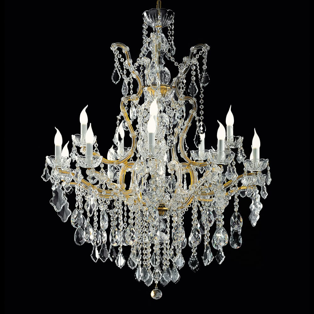 luxury interiors, Italian Gold Swarovski Crystal Chandelier