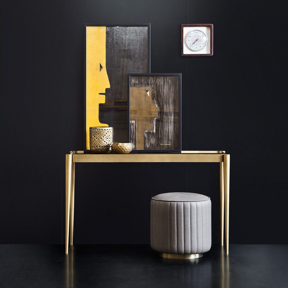 New Arrivals, Luxury Italian Marble Brass Designer Console Table