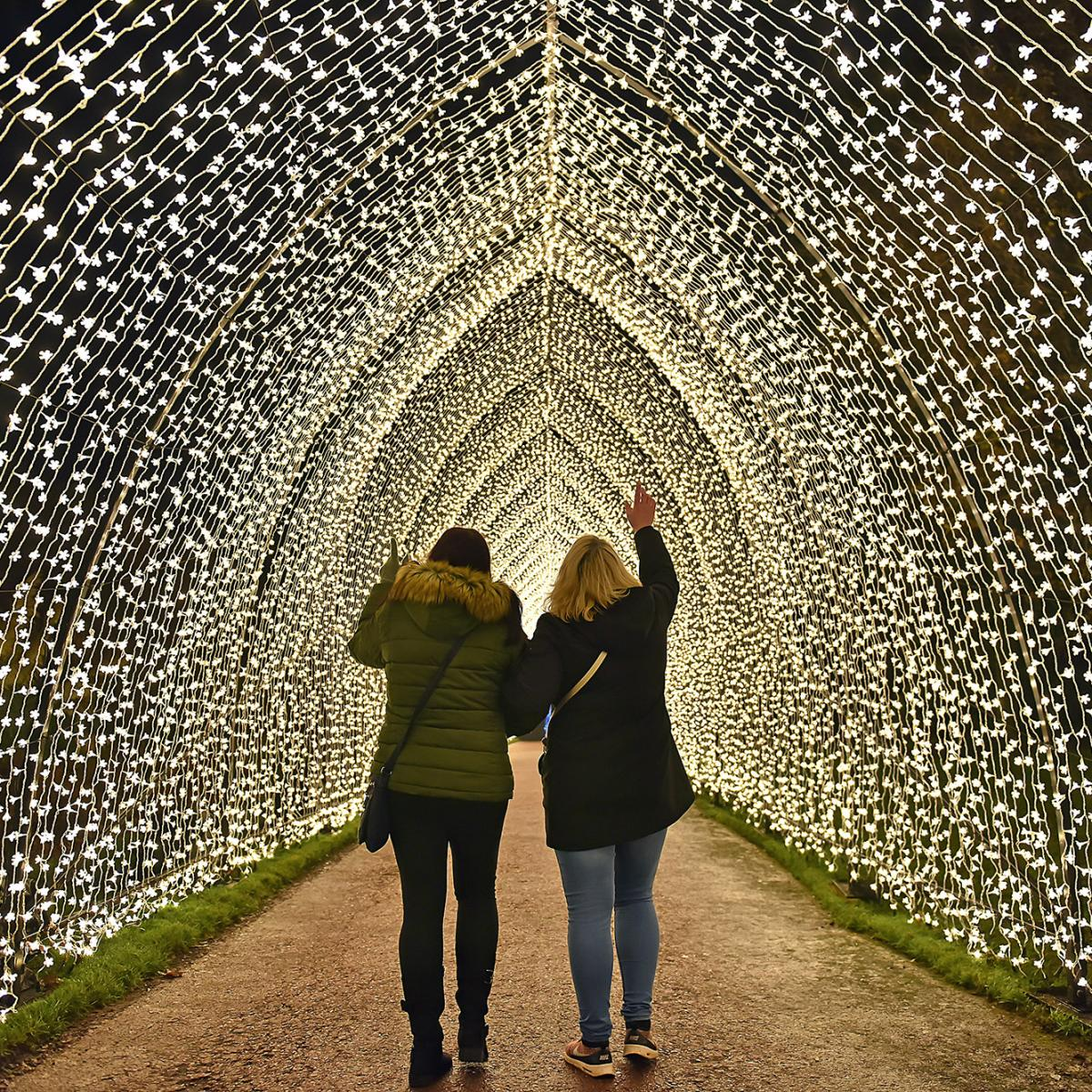 Magical Christmas Place, Blenheim Palace, Festival of Light tunnel