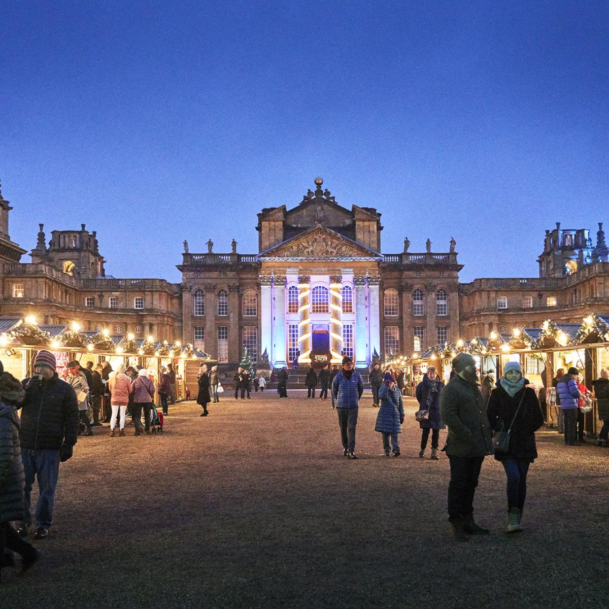 Magical Christmas Places, Blenheim Palace, front courtyard