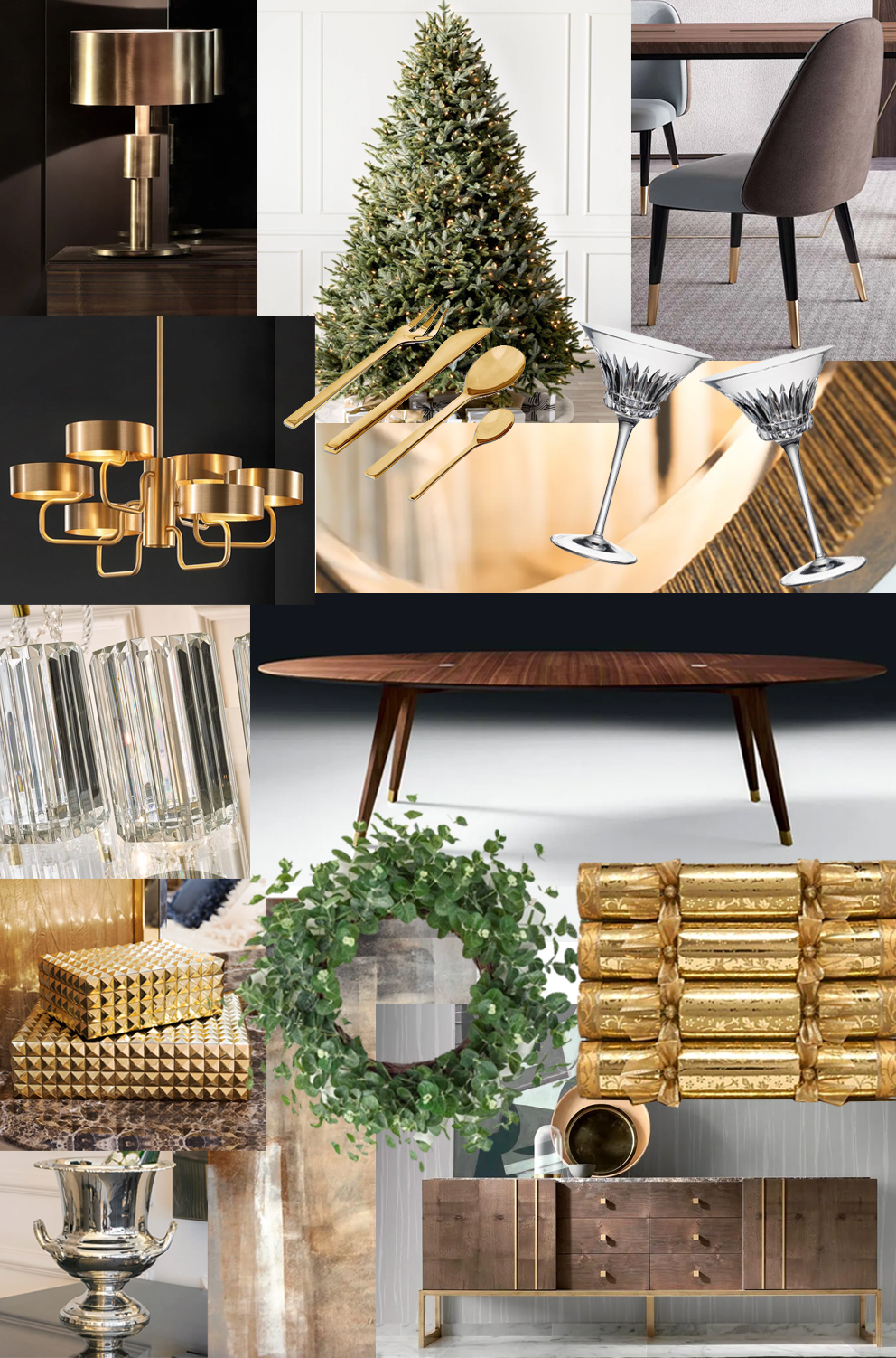 Christmas Dining, Bianca Hall, French for Pineapple moodboard