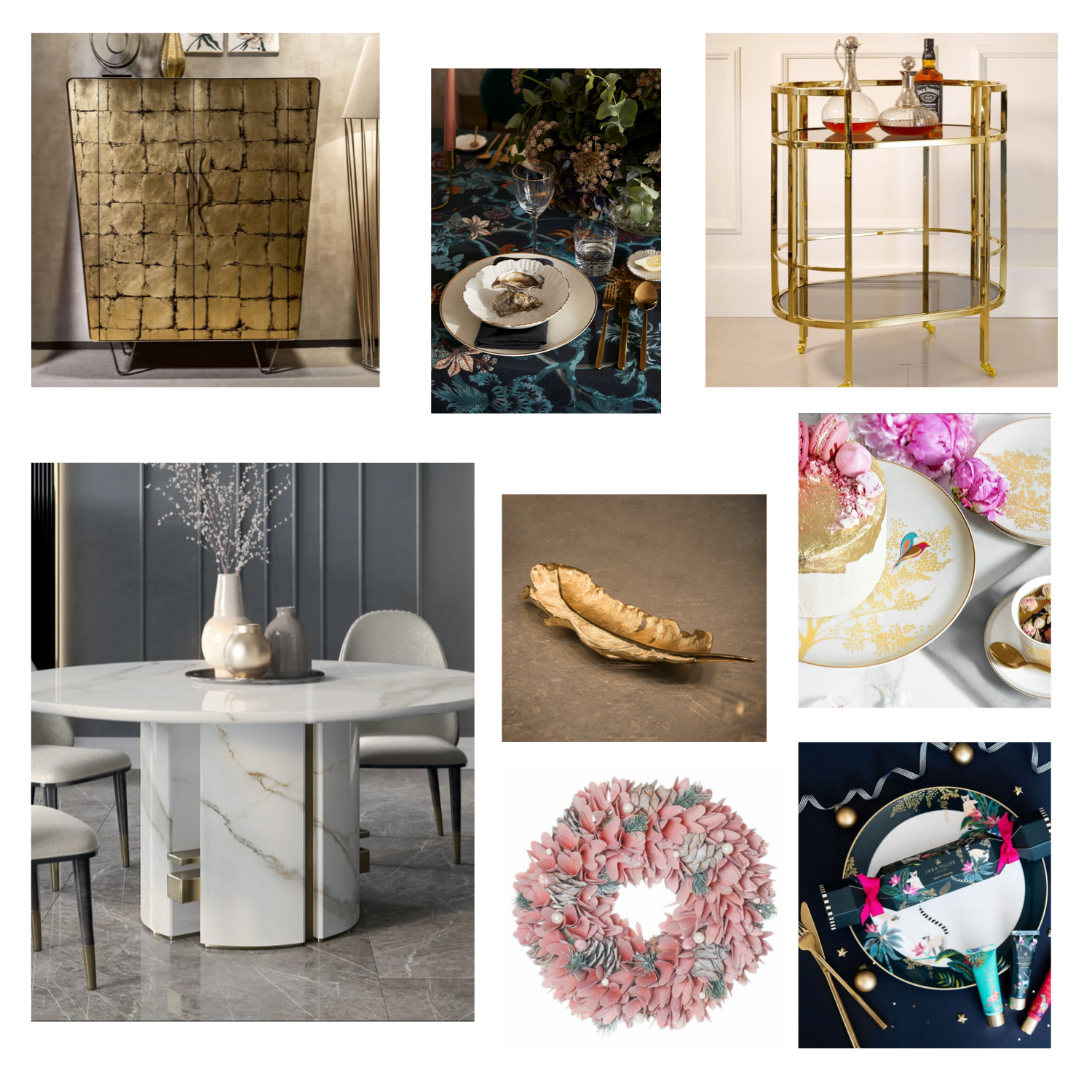 Christmas Dining, Jen Stanbrook, Love Chic Living moodboard