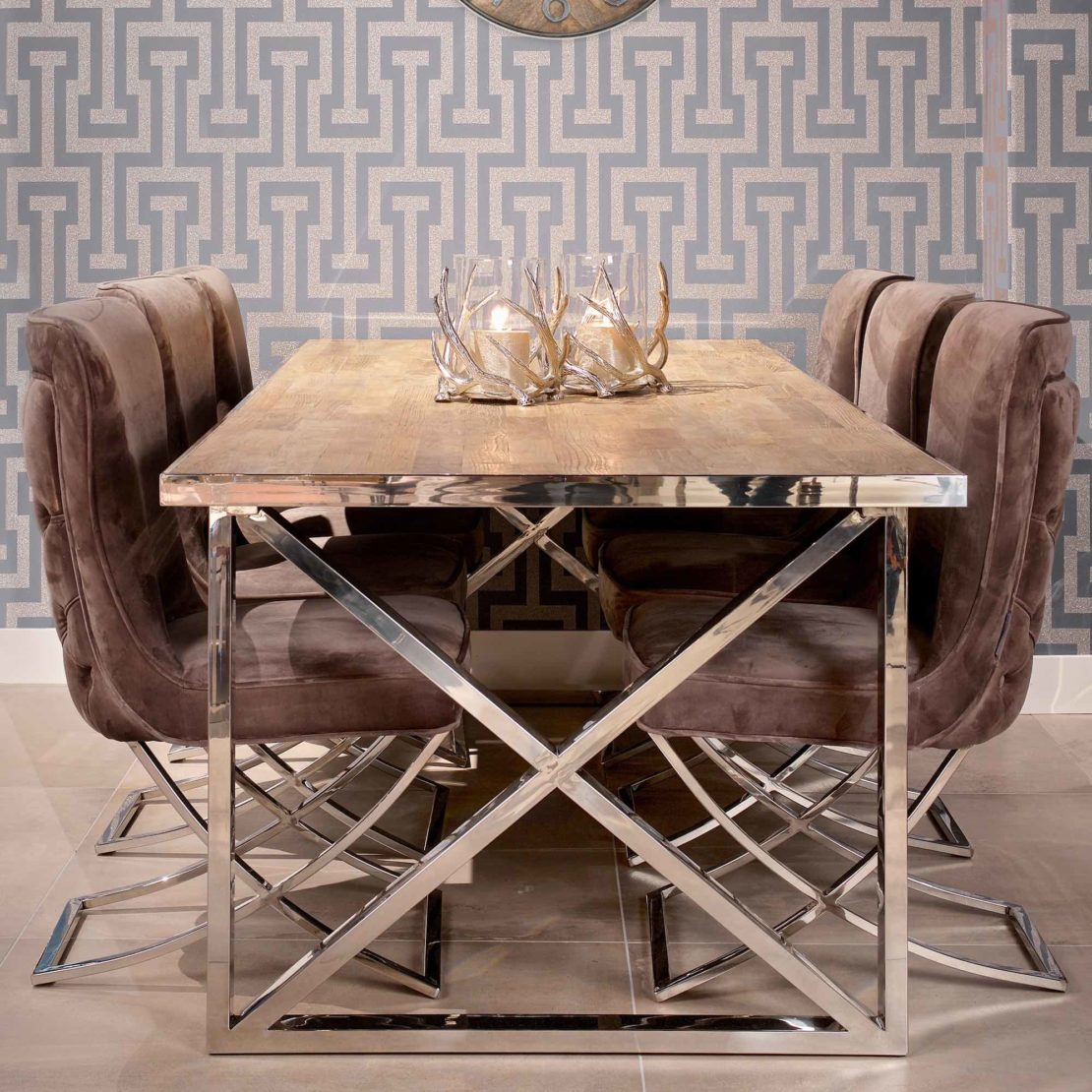 showhome furniture, Contemporary Recycled Wood Dining Table