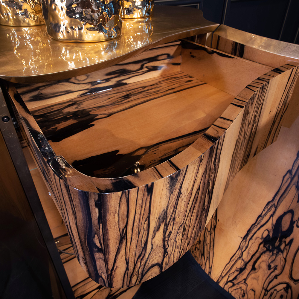 new Luxe Collection, Exclusive Gold Leaf Gradient Designer Sideboard