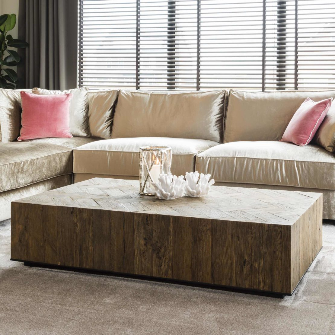 showhome furniture collection, Industrial Herringbone Coffee Table