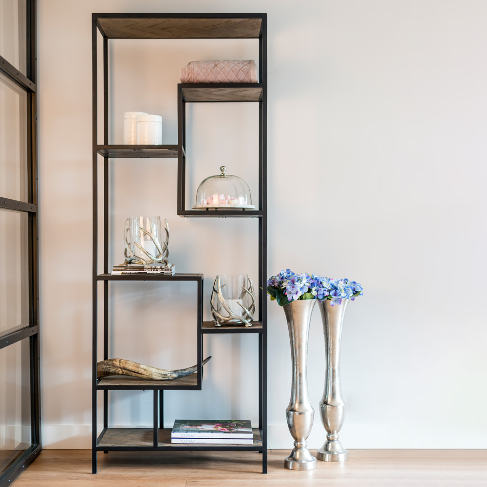 showhome furniture, Industrial Old Oak Display Unit