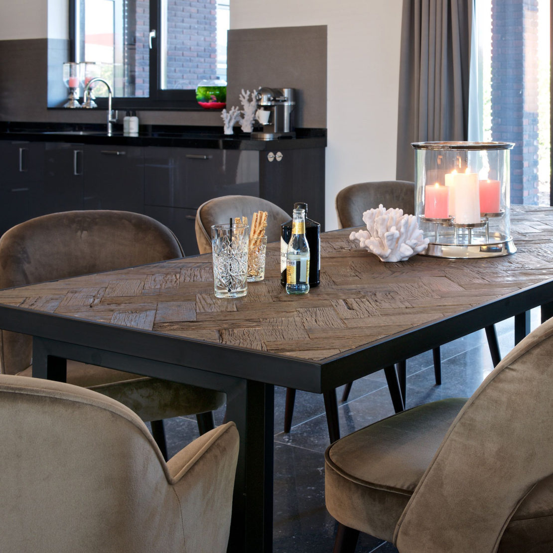 showhome furniture, Industrial Old Oak Dining Table