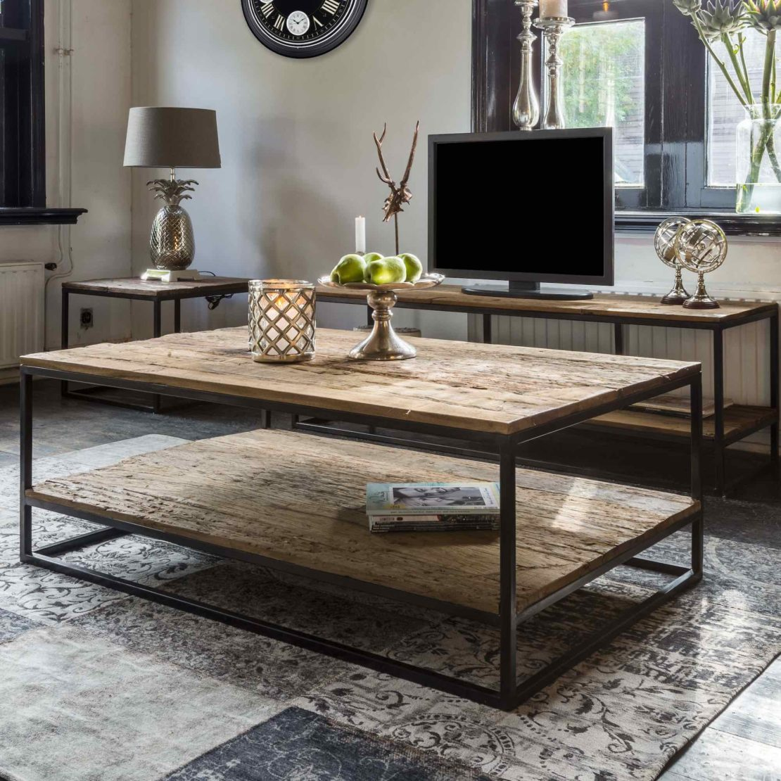 showhome collection, Industrial Recycled Wood Coffee Table