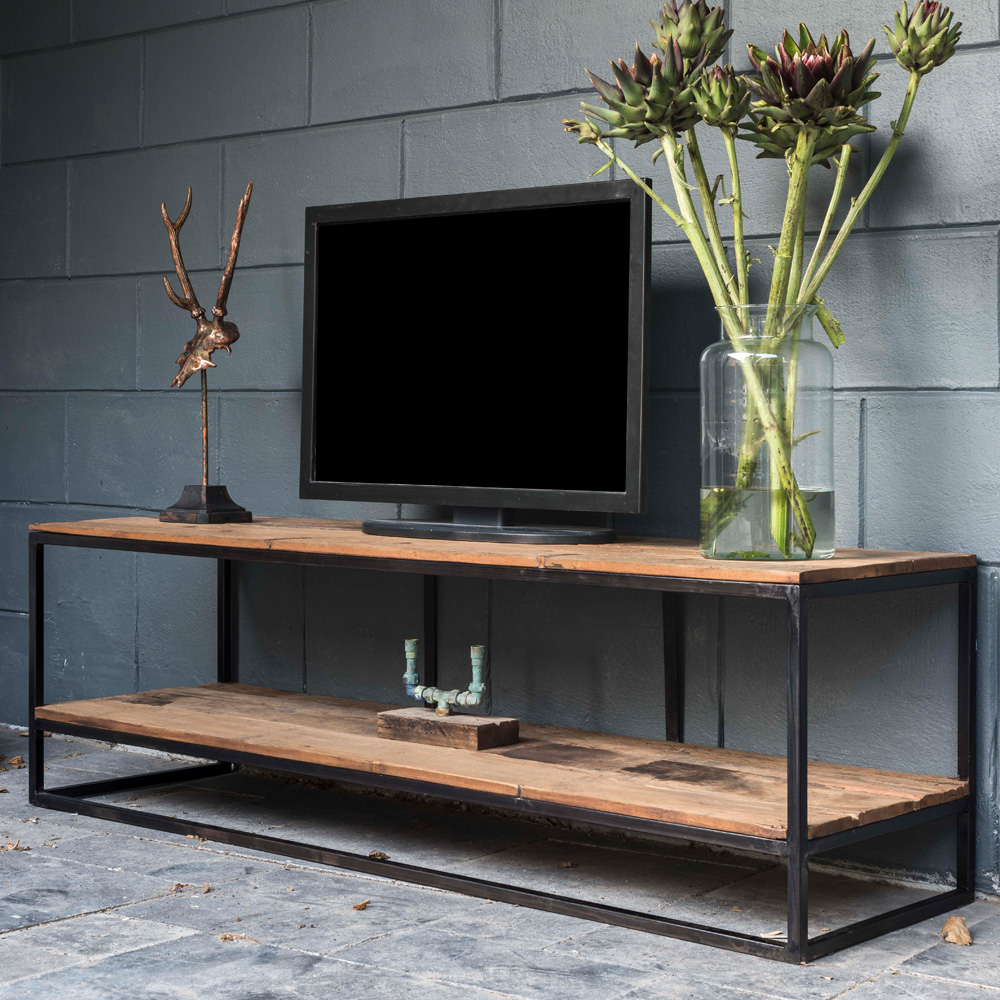 showhome furniture, Industrial Recycled Wood TV Unit