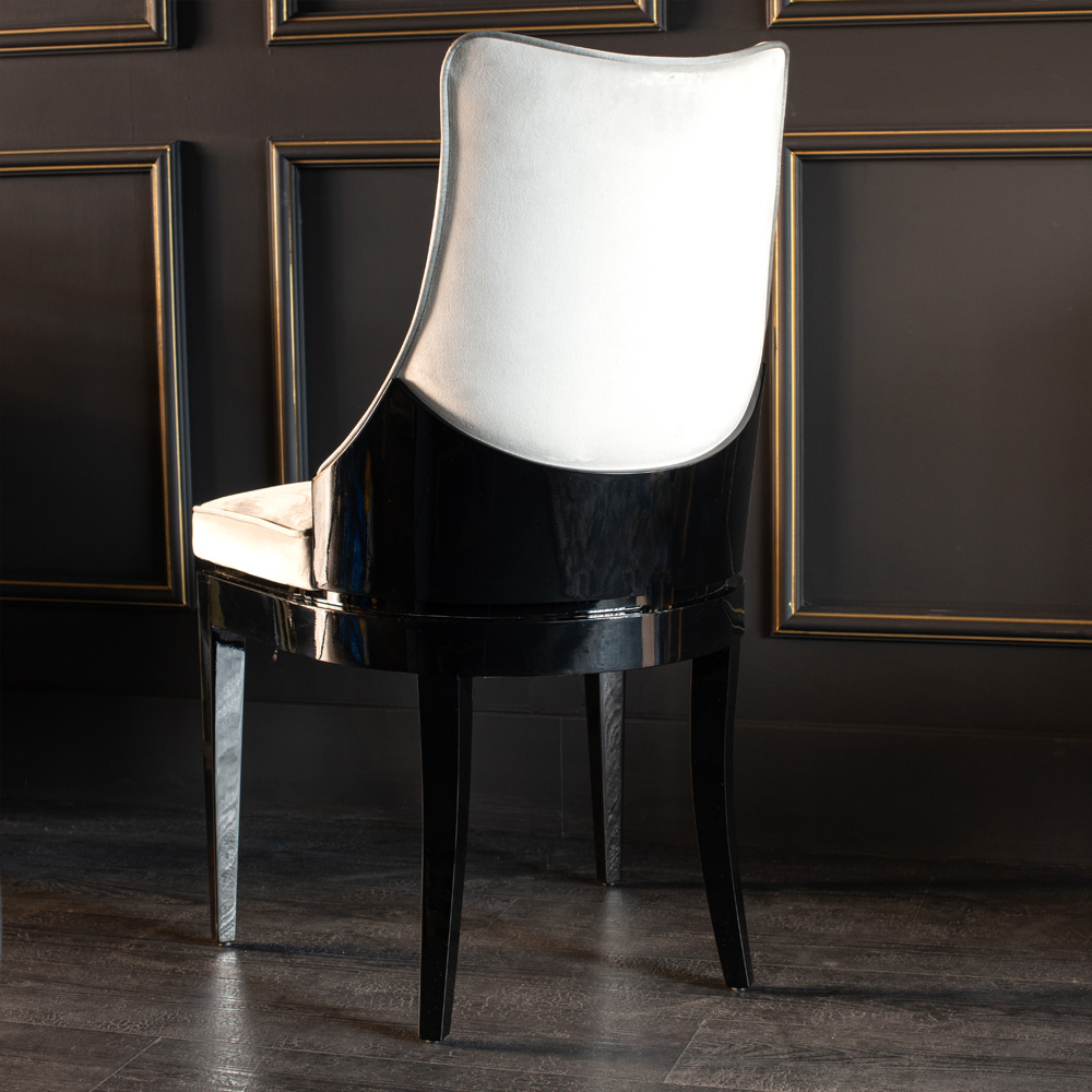 new Luxe Collection, Art Deco Inspired Luxury Designer Two-Tone Dining Chair