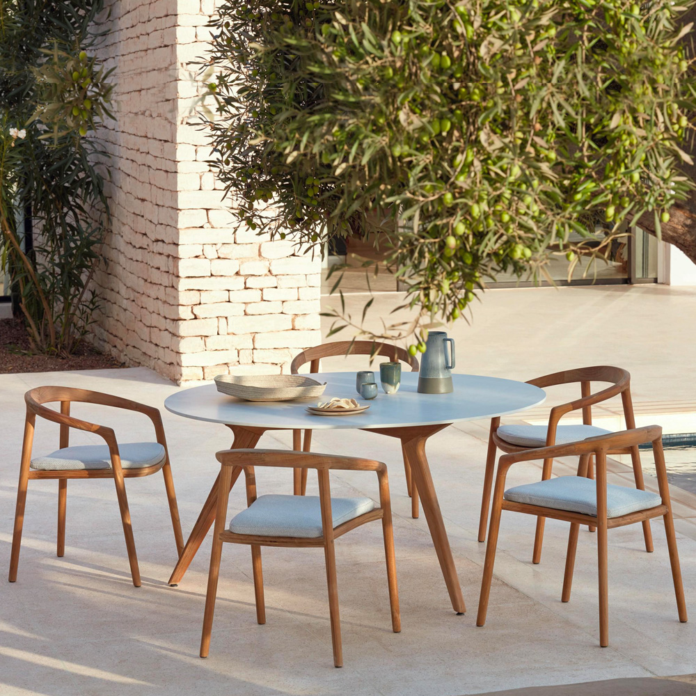 Garden trends, Designer Italian Teak Garden Dining Table Set