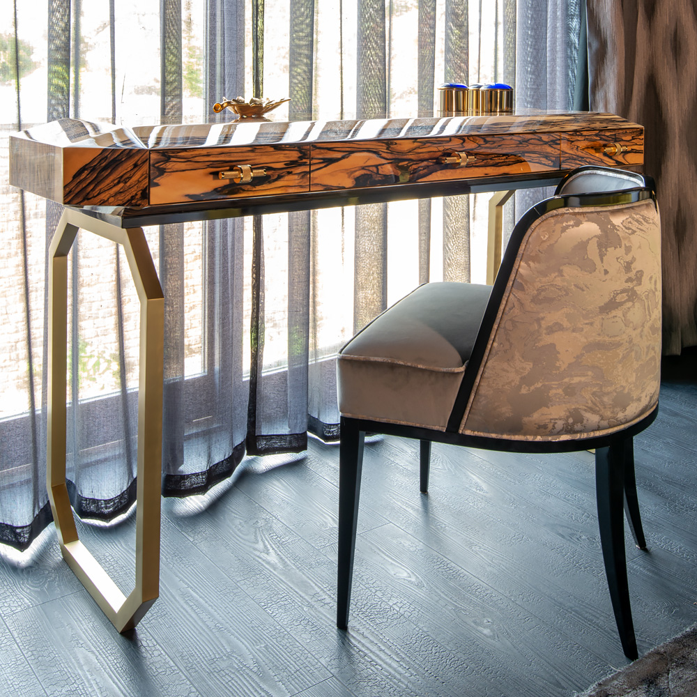 new Luxe Collection, High End Ebony Veneer Designer Console Table