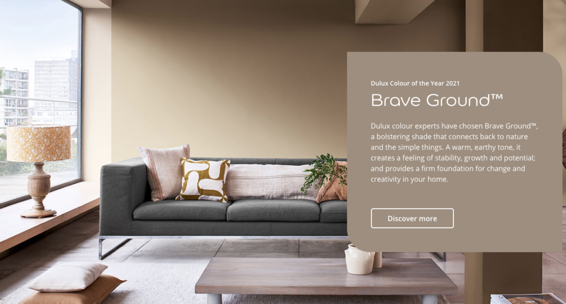 Dulux, brave ground, colour trends 2021