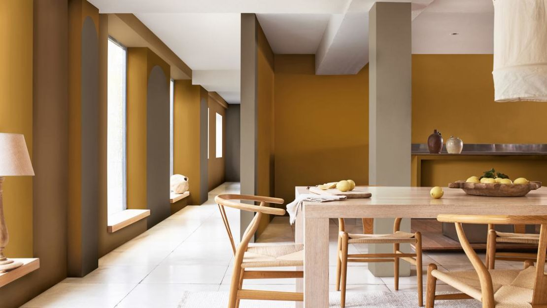 Colour trends 2021, yellow ochre, turmeric