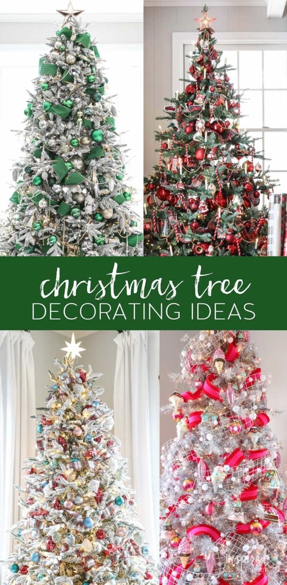 Christmas decor, inspired by charm, 4 decorated trees