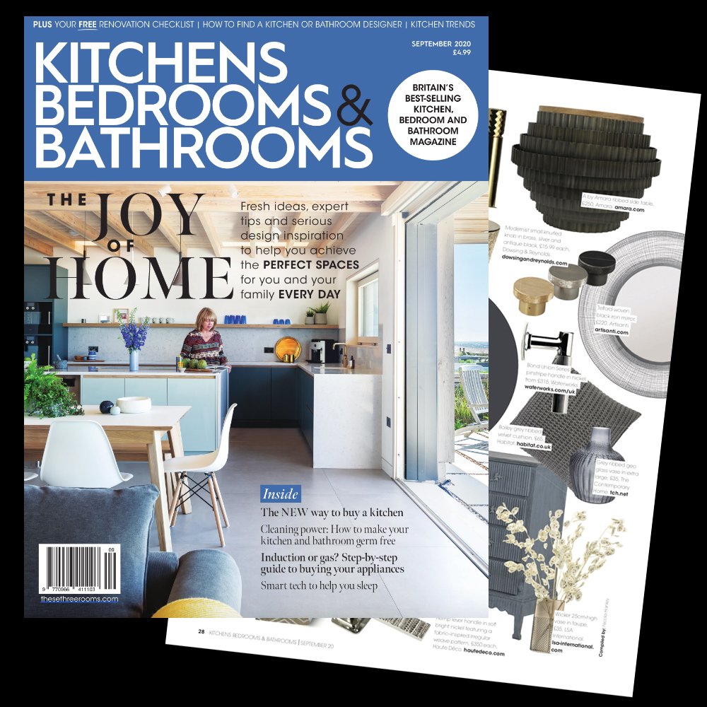 In the press, kitchens bedrooms and bathrooms, product feature, juliettes interiors
