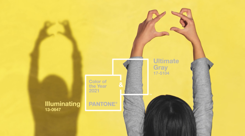 Pantone Colour of the Year 2021, Ultimate Gray and Illuminating Yellow