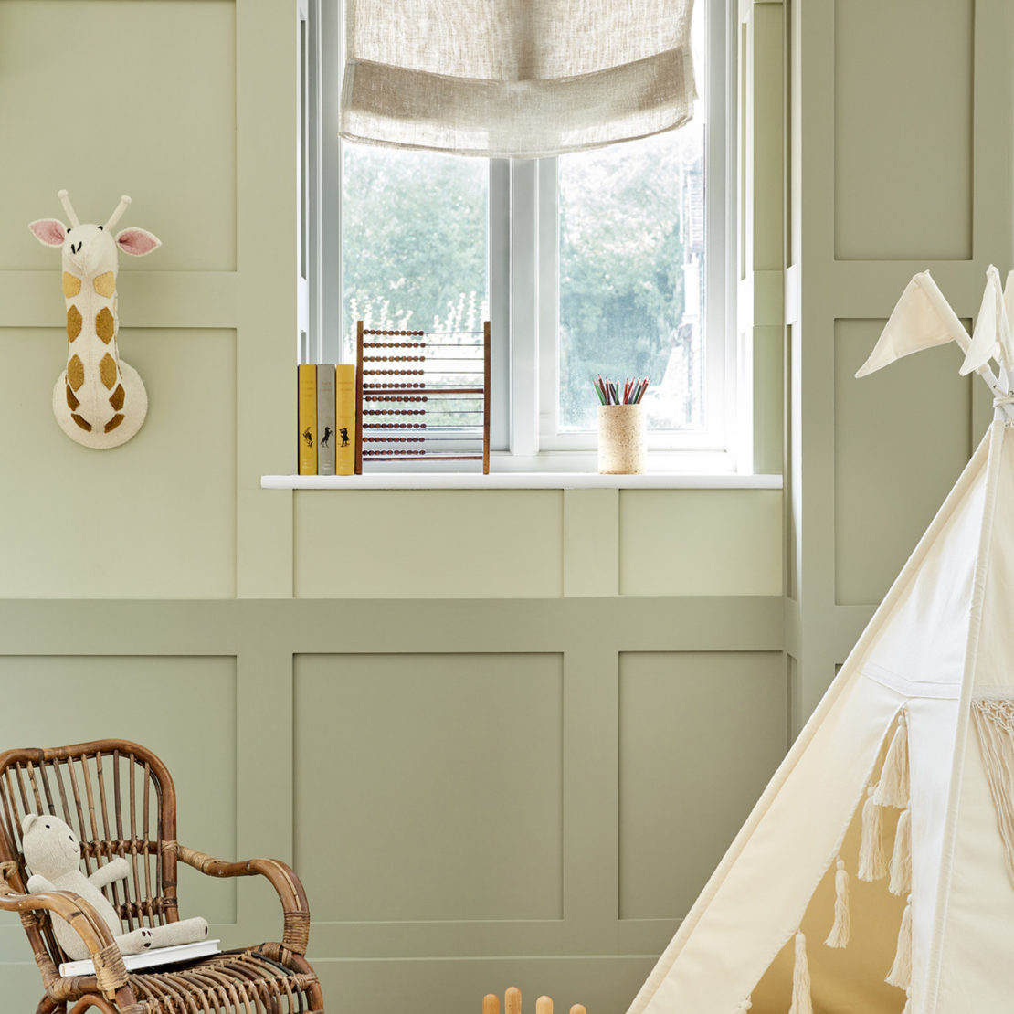 Little Greene paints with a green earth undertone