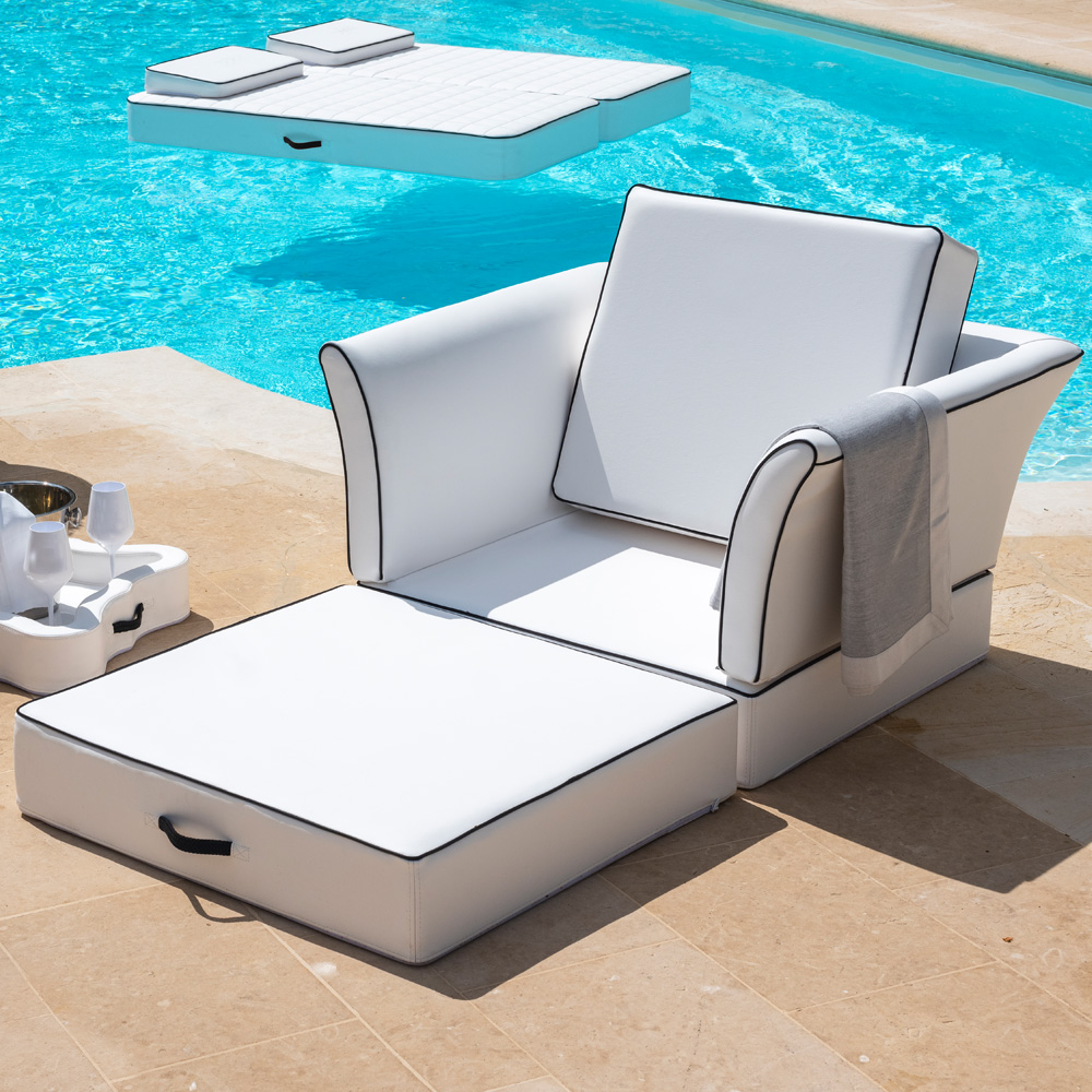 outdoor seating, Floating Armchair Sun Lounger
