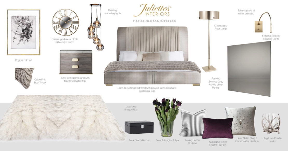 Juliettes Interiors, visuals for Windsor town house bedroom