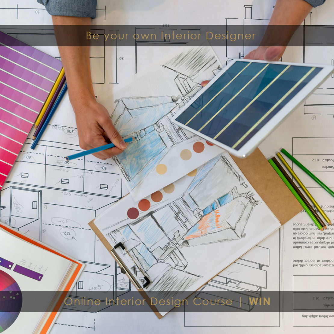 Online interior design course, win a free place